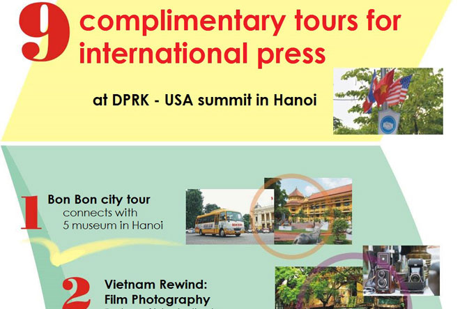 9 complimentary tours for international press at DPRK - USA Summit