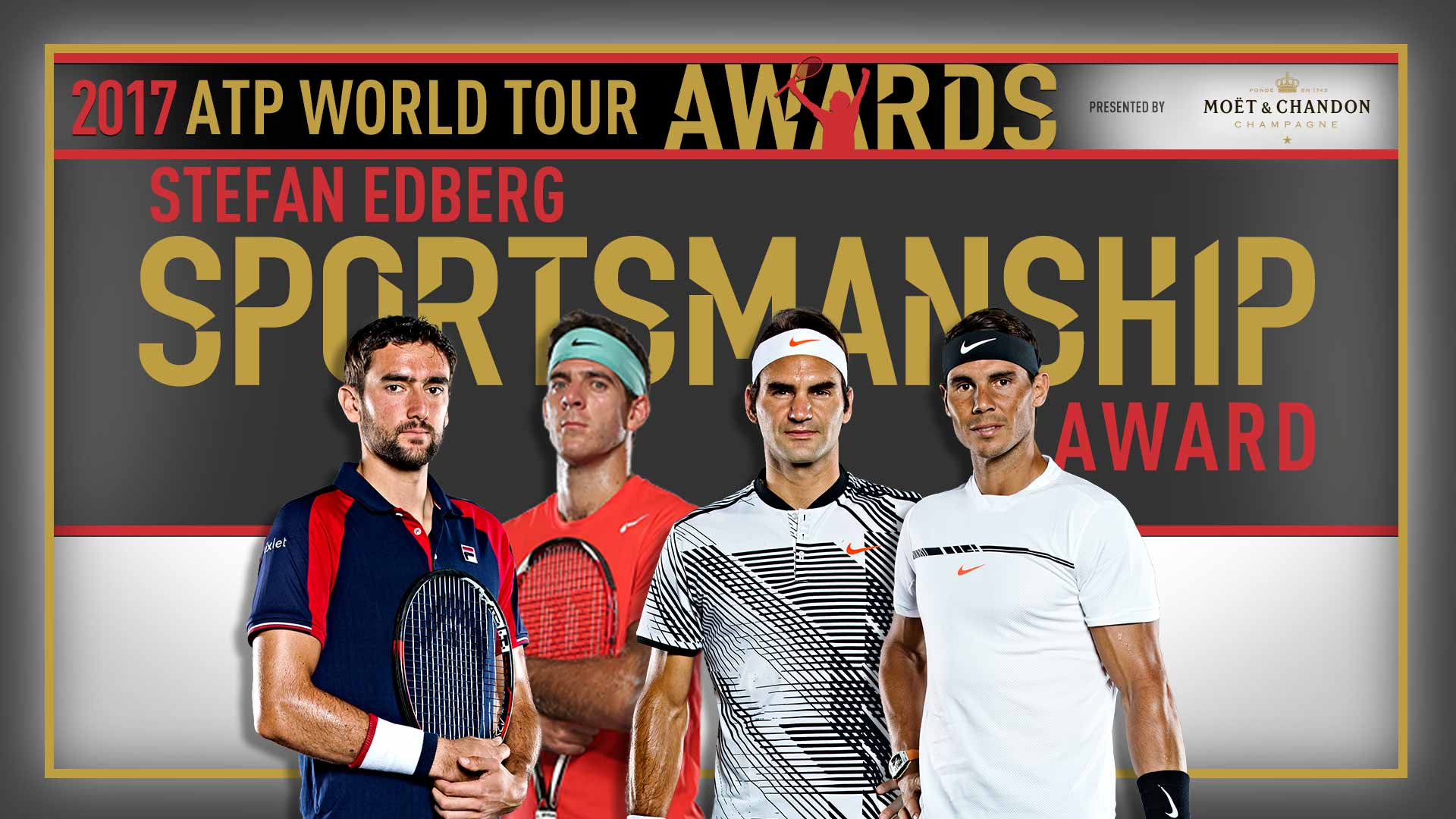 Nadal, Federer lọt đề cử ATP World Tour Awards 2017